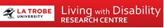 La Trobe Living with Disability Research Centre logo and link
