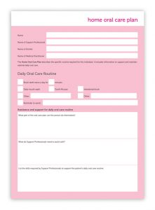 Home Oral Care Plan Form cover