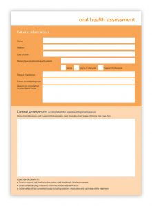 Oral Health Assessment Form Cover